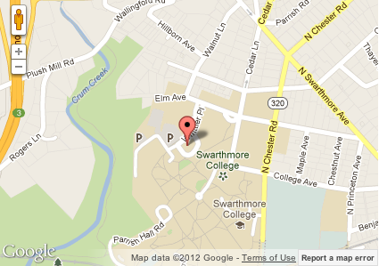 Get Directions to the Cognition and Development Lab at Swarthmore College